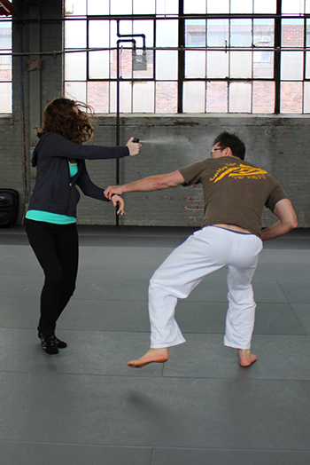 Women's Self Defense Boston   Pepper Spray